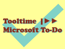Tooltime | Microsoft To-Do © Sylvia NiCKEL